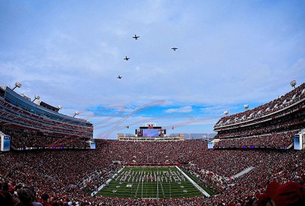 Memorial Stadium Fly Over