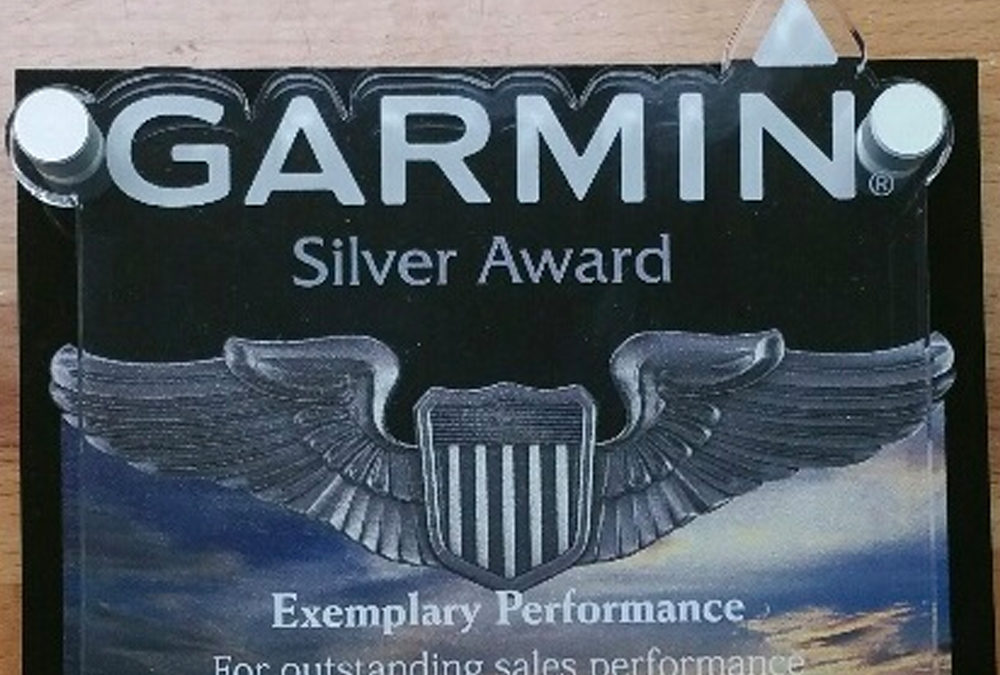 Garmin Silver Award of Exemplary Performance